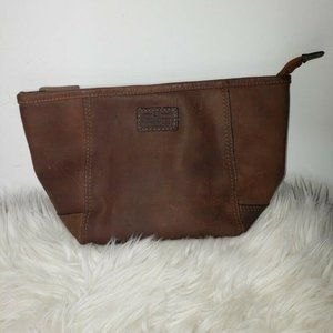 The British Belt Company England Leather Pouch Bag